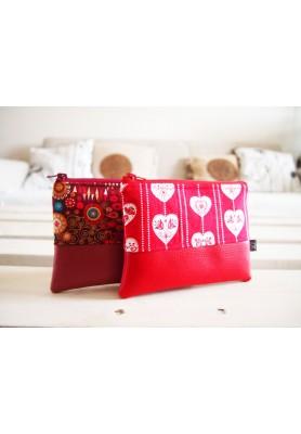 Kozmetická taštička malá - červené srdce