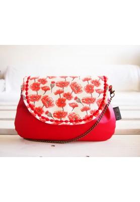 Červená kabelka - vlčie maky