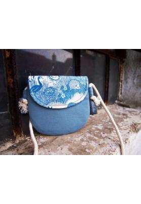 Detská taštička - zvieratká v modrej
