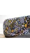 Rozkvitnutá lúka - kabelka so sivou koženkou