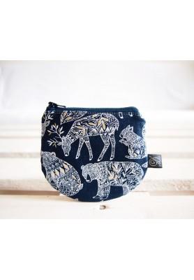 Peňaženka - zvieratká na tmavomodrej