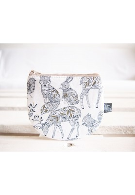 Peňaženka - zvieratká na bielej