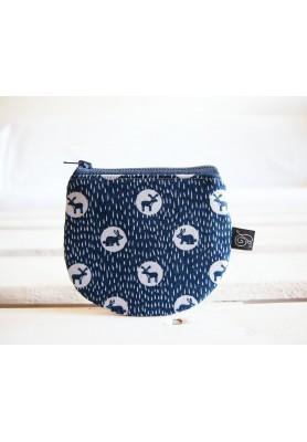 Peňaženka - zvieratká na modrosivej
