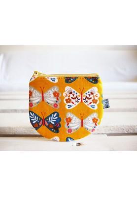 Peňaženka - hippie žltá