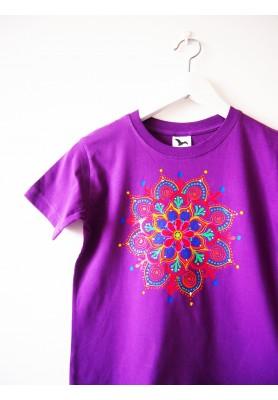 Detské fialové tričko s mandalkou - 8r.