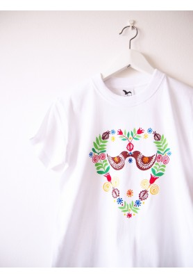 Detské biele folk tričko - 8r.