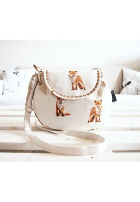 Malá režná kabelka -  líšky