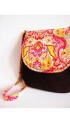VÝPREDAJ-Veľká menžestrová hippie taška v teplých farbách