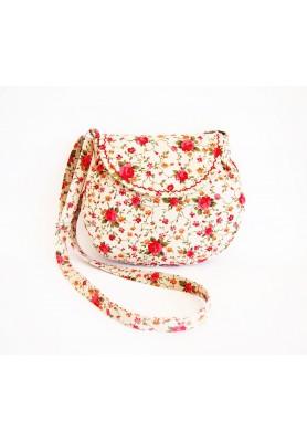 Malá režná kabelka - červené ruže