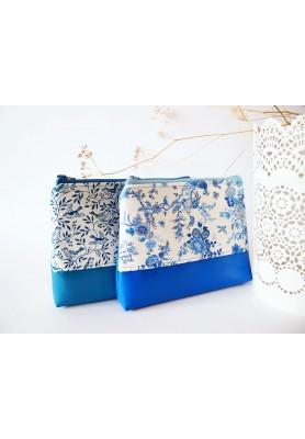 Kozmetická taška veľká-elegantná modrobiela