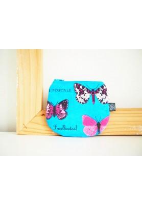 Peňaženka - motýle na tyrkysovej