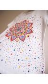 Tričko biele s jesennou mandalou - M