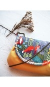 Kabelka - veľké líšky s pastelovožltou