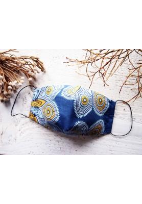 Rúško za uško - dámske - mandaly na modrej