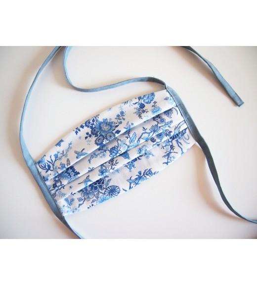 Rúško/rouška - modrobiely jemný vzor