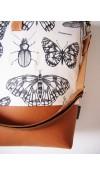 Veľká taška - motýle s karamelovou