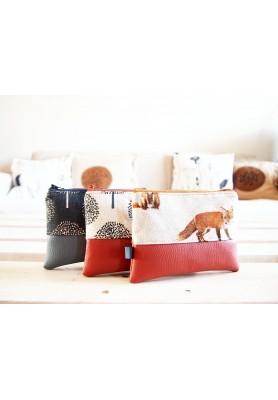 Kozmetická taštička malá - líšky so škoricovou