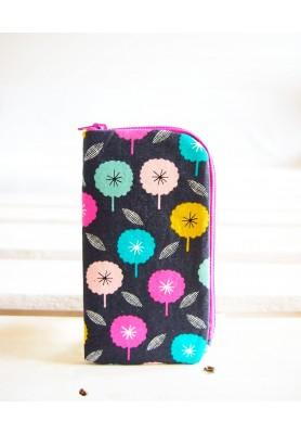 Obal na mobil - veľký - minimal kvety