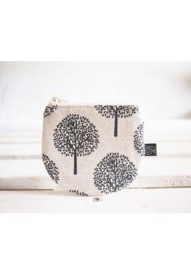 Peňaženka režná - stromy v béžovej