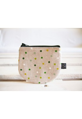 Peňaženka - zelené bodky na režnej
