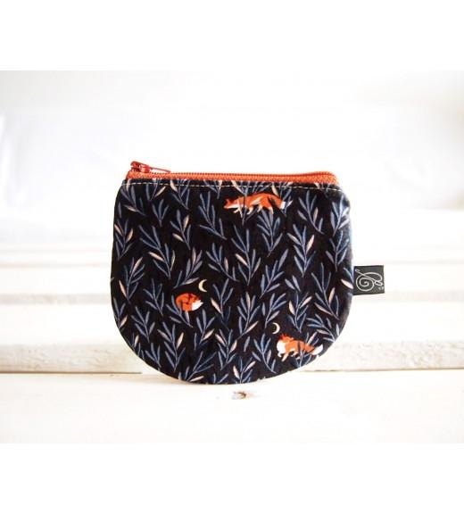 Peňaženka - líšky na tmavej
