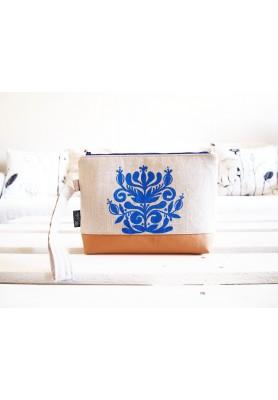 Toaletná taška z ľanovej folk kolekcie-výpredaj