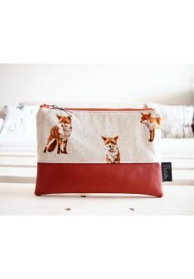Kozmetická taška veľká - líšky