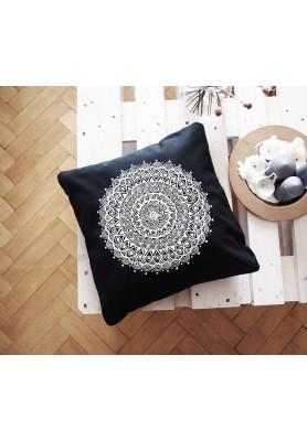 Povlak z mandalovej série-sivobiely 48x48 cm