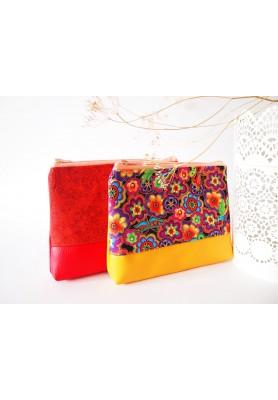 Kozmetická taška veľká-farebné hippie kvety